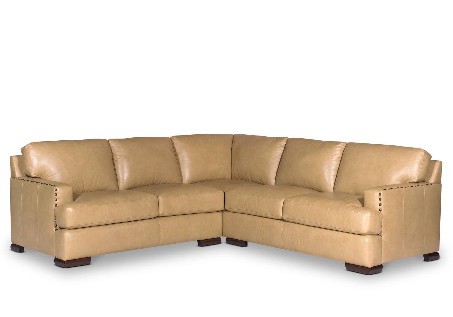 Cajole 2 Piece Leather Sectional | Hom Furniture | Furniture within Craftmaster Sectional Sofa (Image 4 of 30)