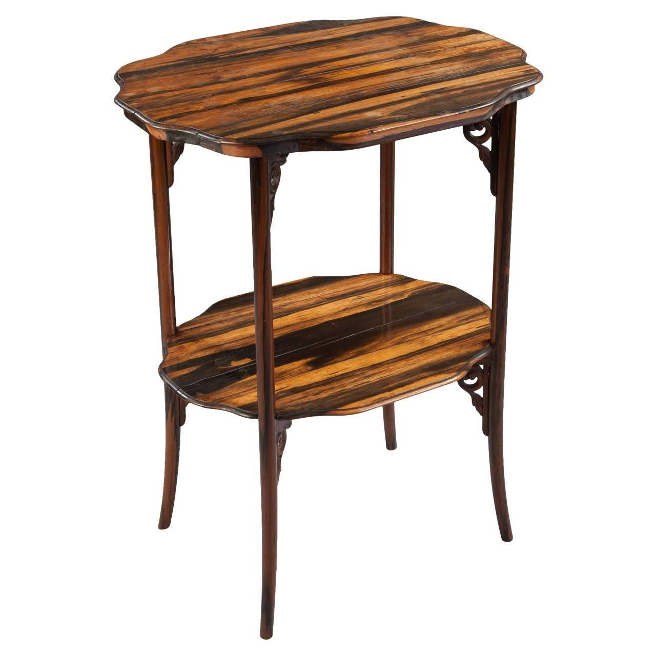 Calamander Wood Folding Campaign Table For Sale At 1Stdibs pertaining to Campaign Coffee Tables (Image 1 of 30)