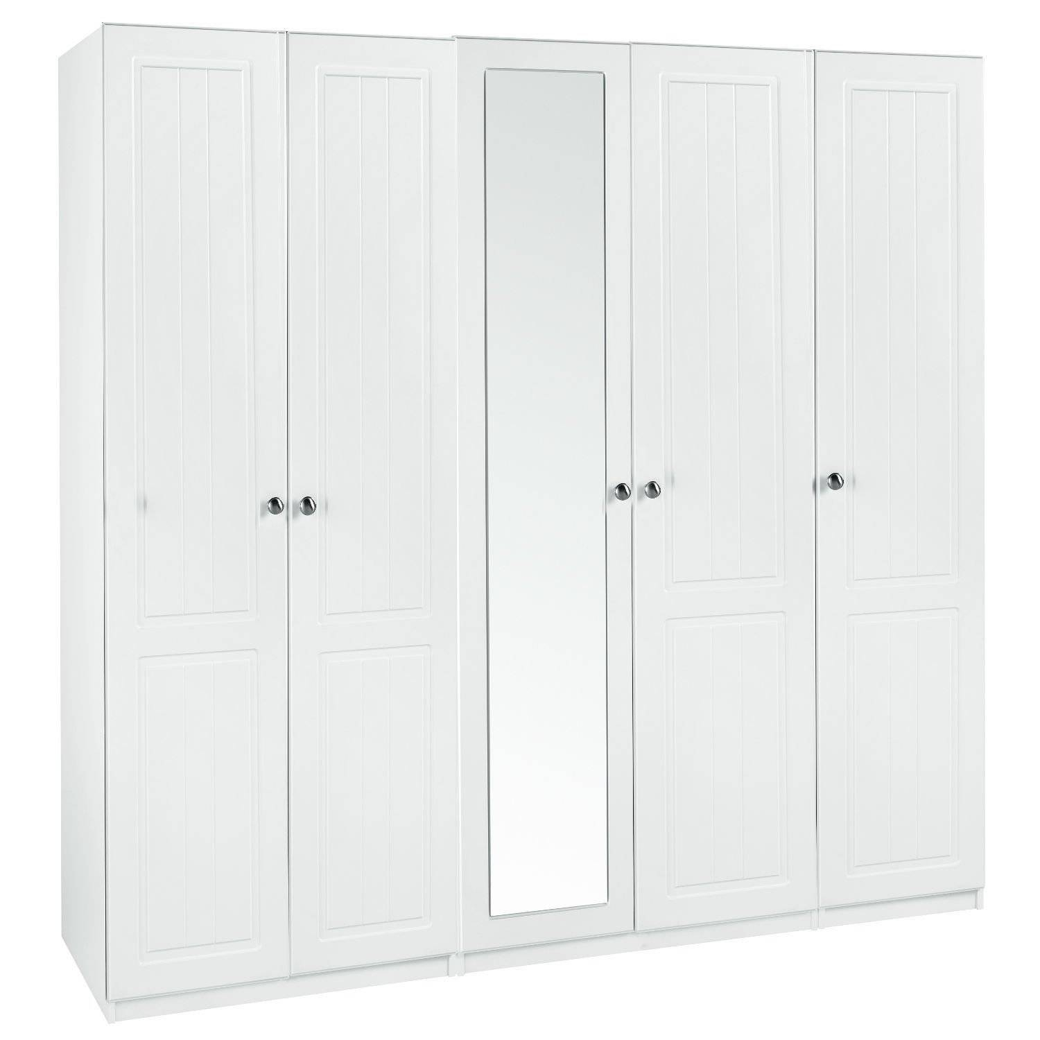 Calando Tall 5 Door Mirrored Wardrobe – Next Day Delivery Calando for 5 Door Mirrored Wardrobes (Image 4 of 15)
