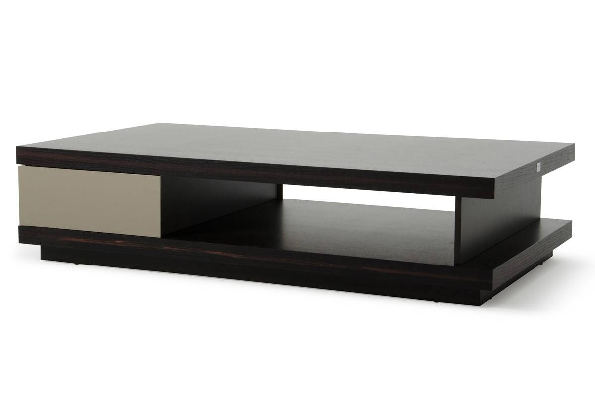 Caligari Modern Oak & Grey Gloss Coffee Table with regard to Gloss Coffee Tables (Image 5 of 30)