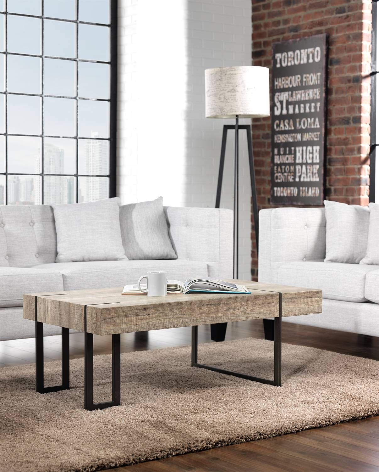 Calvin Coffee Table – Beige | Leon's With Beige Coffee Tables (View 7 of 30)