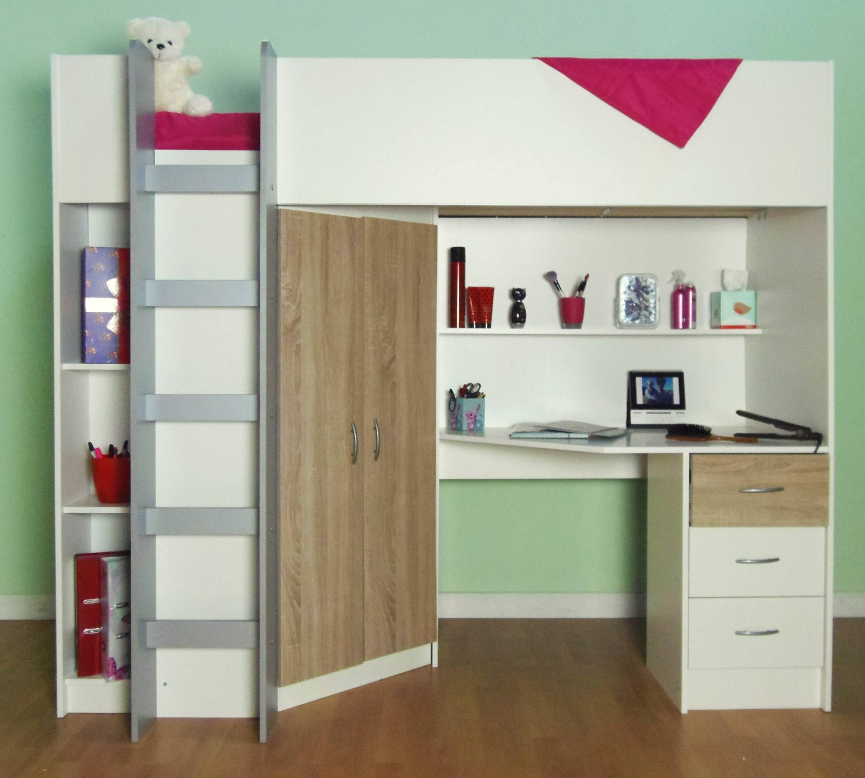 Cambridge High Sleeper Bed within Kids Cabin Beds With Wardrobes (Image 3 of 15)