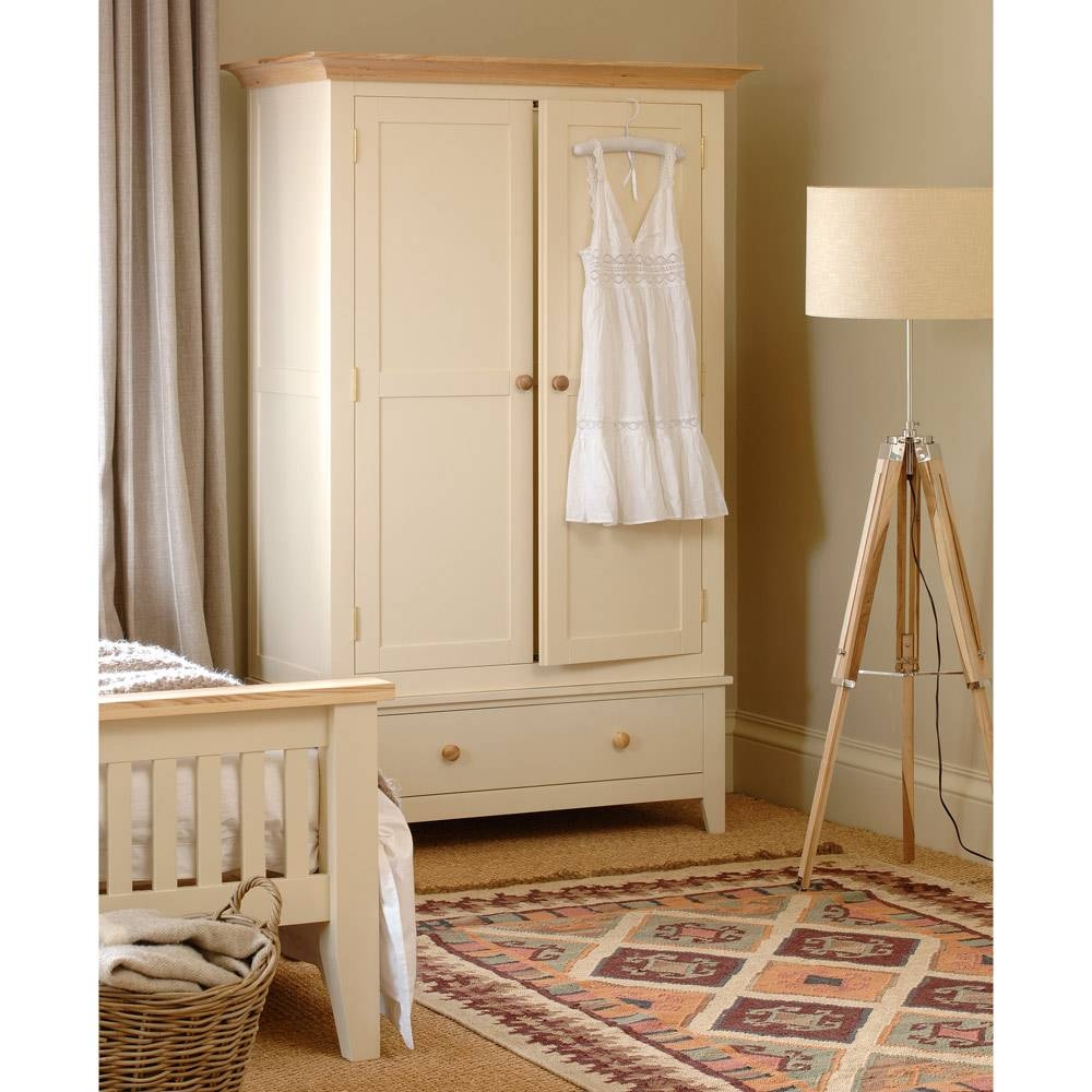 Camden Painted Double Wardrobe With Drawer Including Free Delivery within Double Wardrobes (Image 3 of 15)