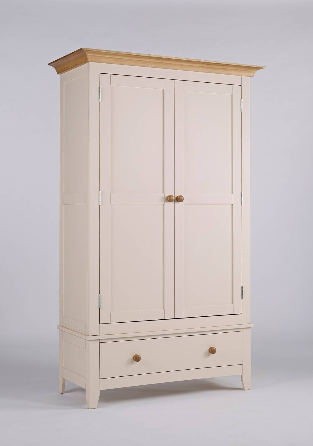 Camden Painted Pine & Ash Wardrobe With Drawer with regard to Discount Wardrobes (Image 6 of 30)