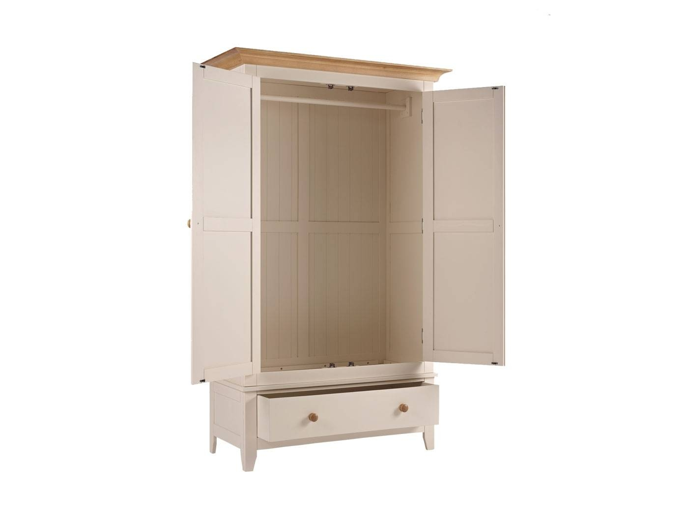 Camden Wardrobe 2 Door Drawer - Wardrobes - Storage - Beds & Bedroom regarding Camden Wardrobes (Image 6 of 15)