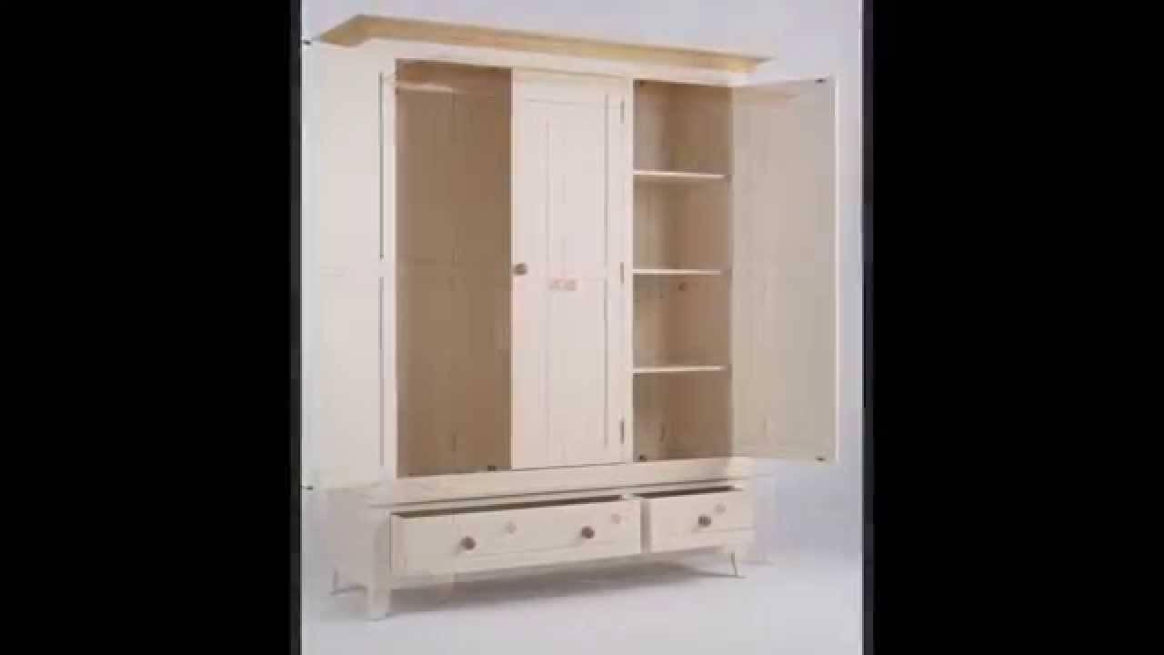 Camden Wardrobe 3 Door 2 Drawer | Shabby Chic Bedroom Furniture in 3 Door Wardrobe With Drawers and Shelves (Image 9 of 30)
