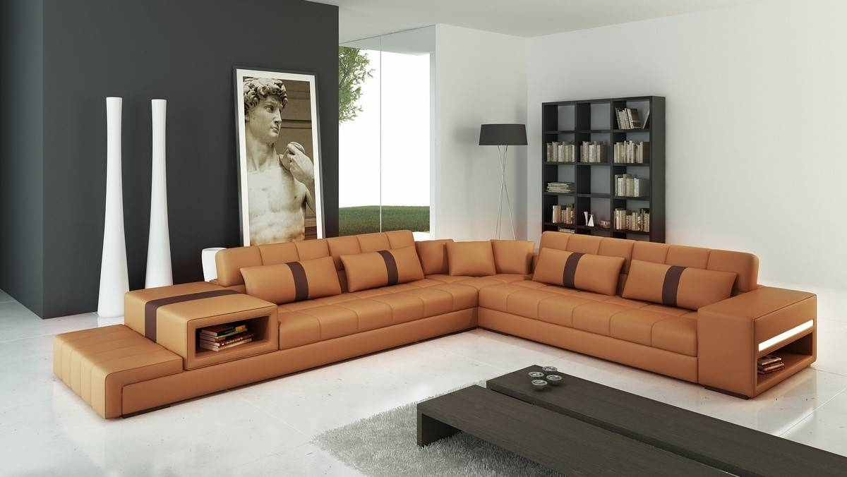 camel leather sectional sofa tehranmix decoration with camel colored sectional sofa photo 5 of - Leather Sectional Couch