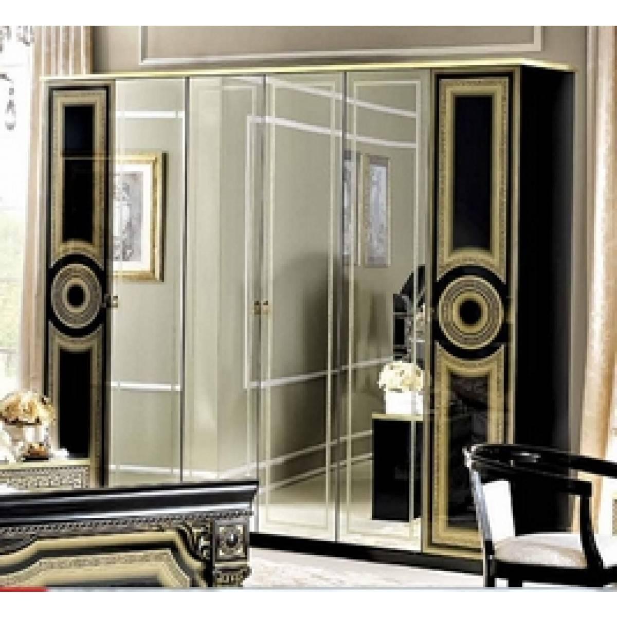 Camelgroup Aida 6-Door Wardrobe (Multiple Colors)Esf Furniture inside 6 Door Wardrobes Bedroom Furniture (Image 5 of 15)