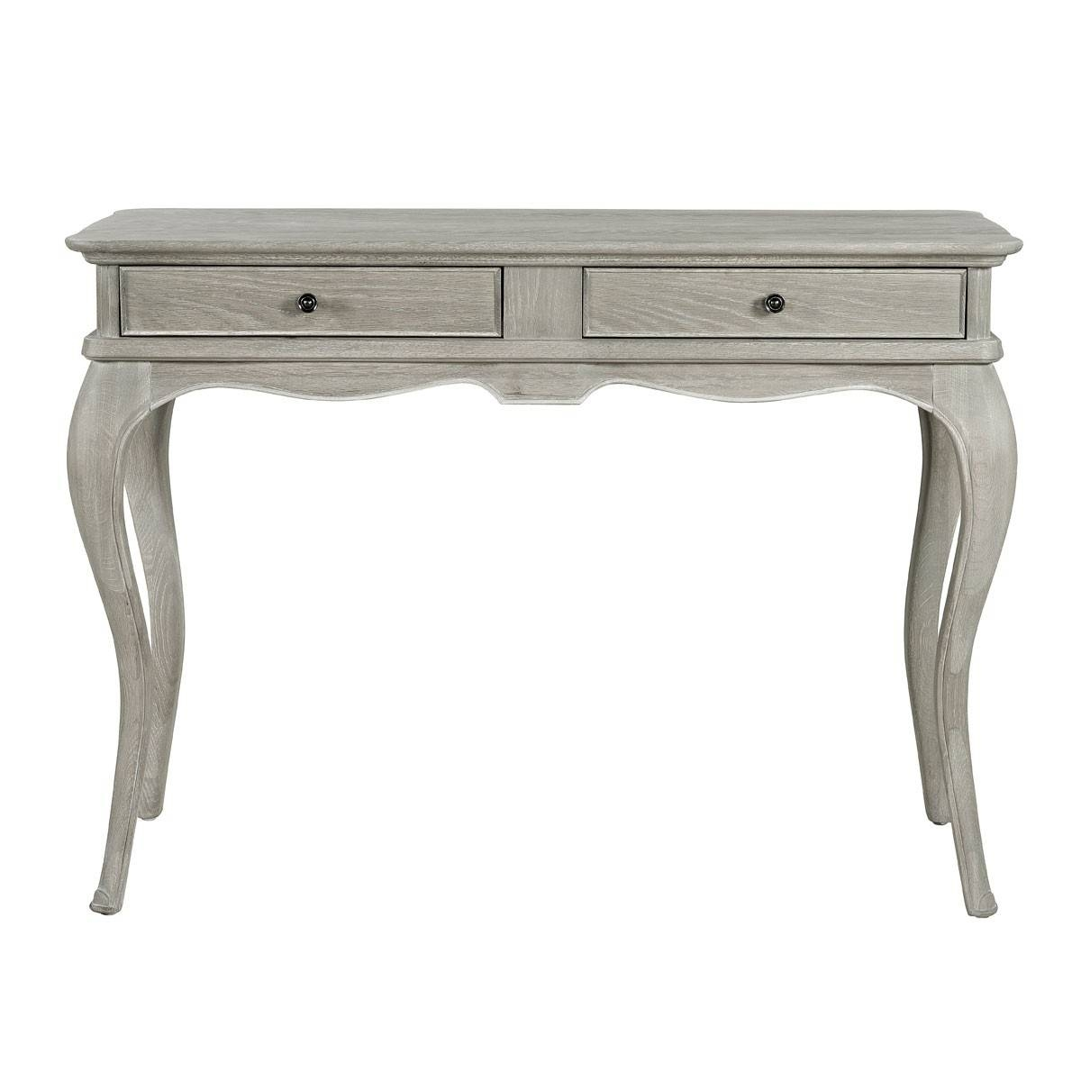 Camille French Style Dressing Table Mirror, Washed Oak | French in French Style Dressing Table Mirrors (Image 8 of 25)