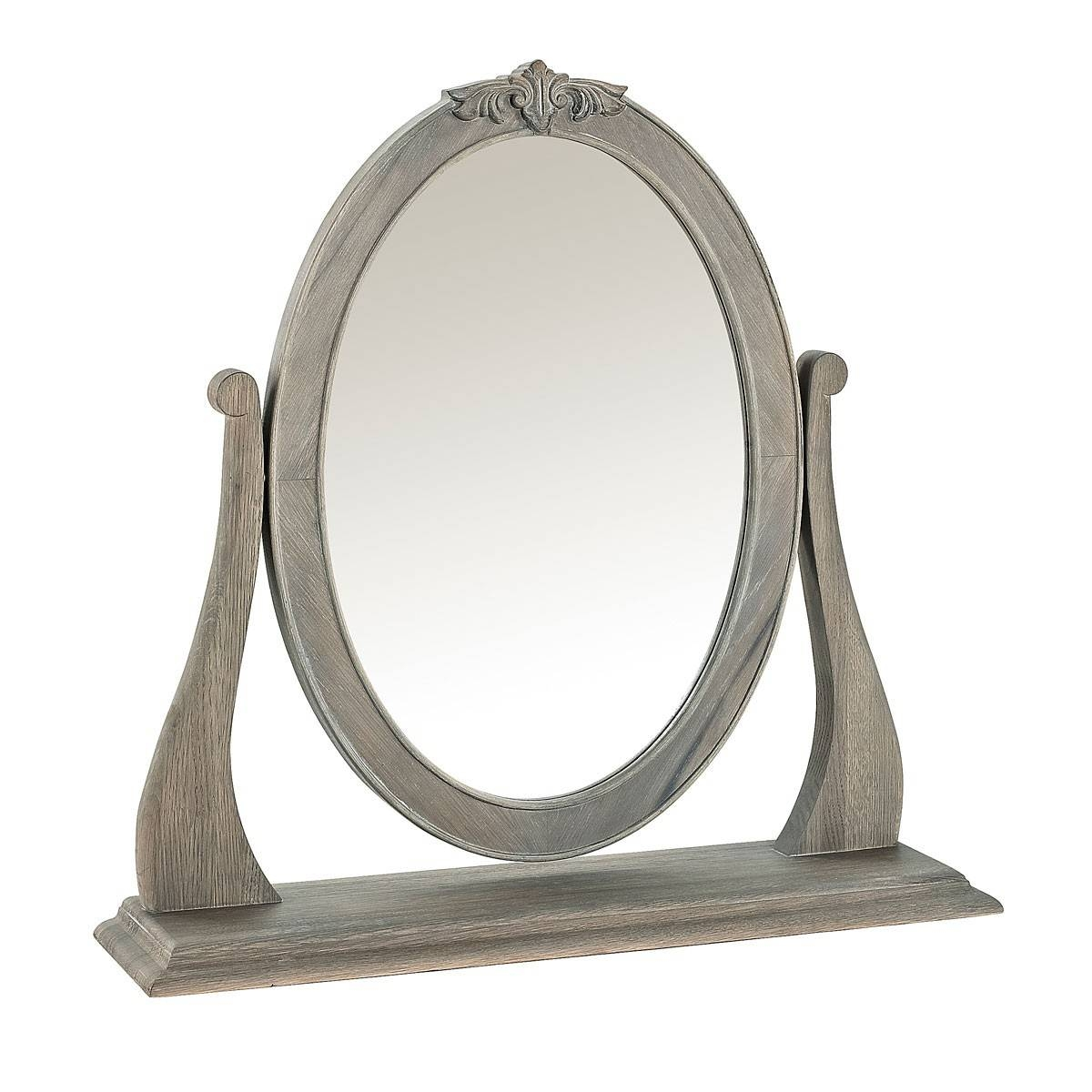 Camille French Style Dressing Table Mirror, Washed Oak | French inside French Style Dressing Table Mirrors (Image 9 of 25)