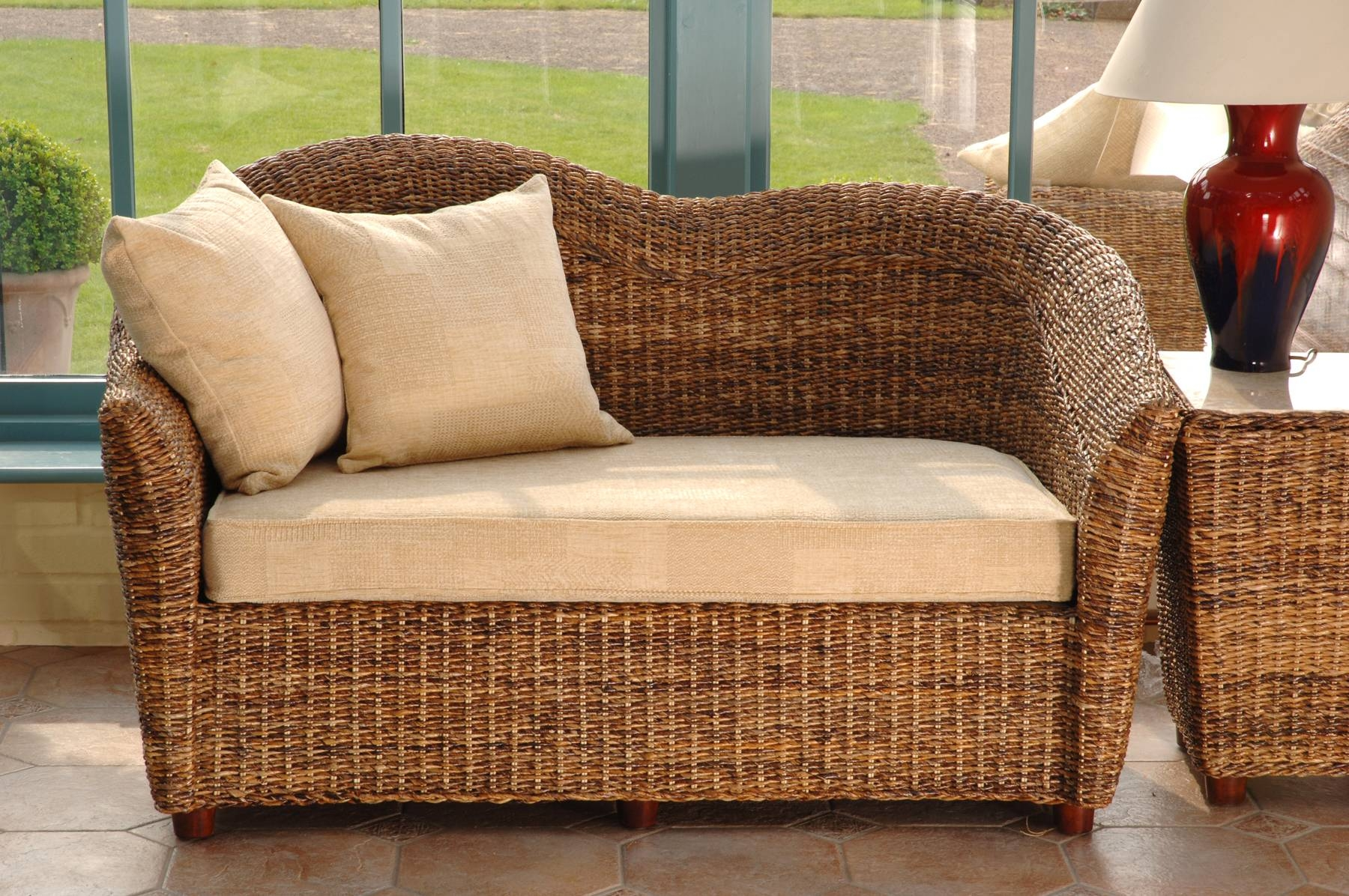 Cane Sofas - Leather Sectional Sofa with Bambo Sofas (Image 22 of 30)