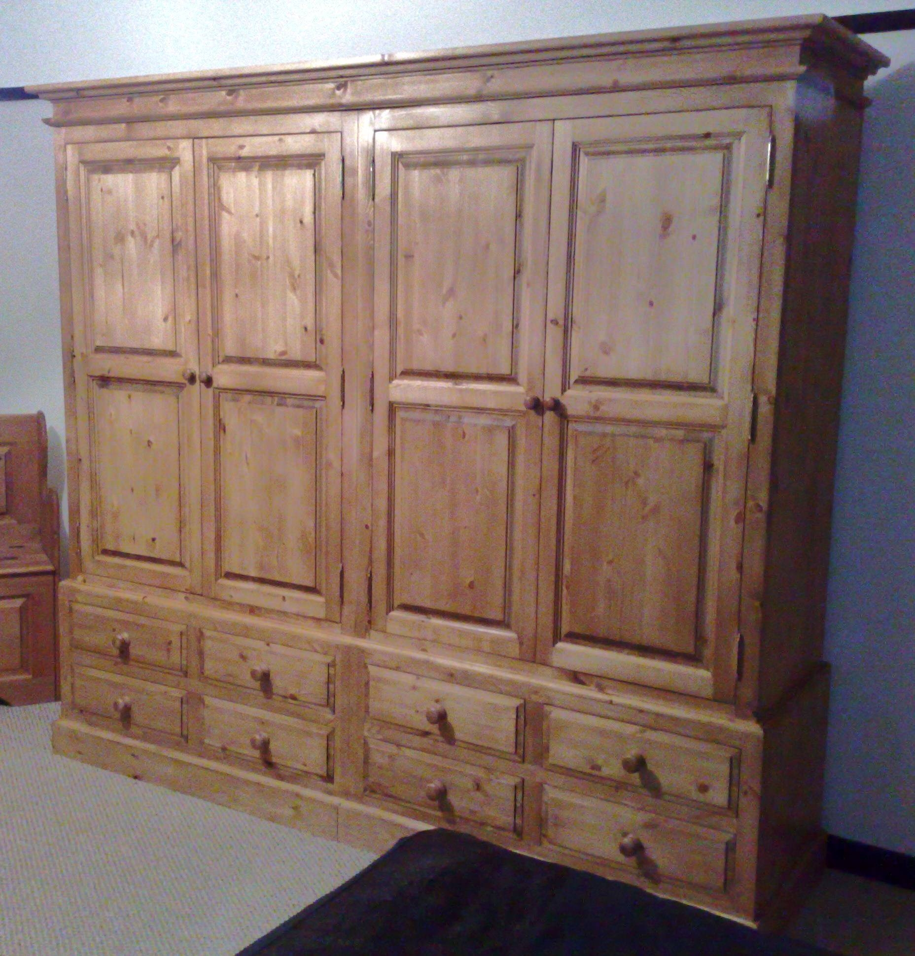 Cap Pine And Oak Furniture For Double Rail Wardrobes (View 14 of 30)