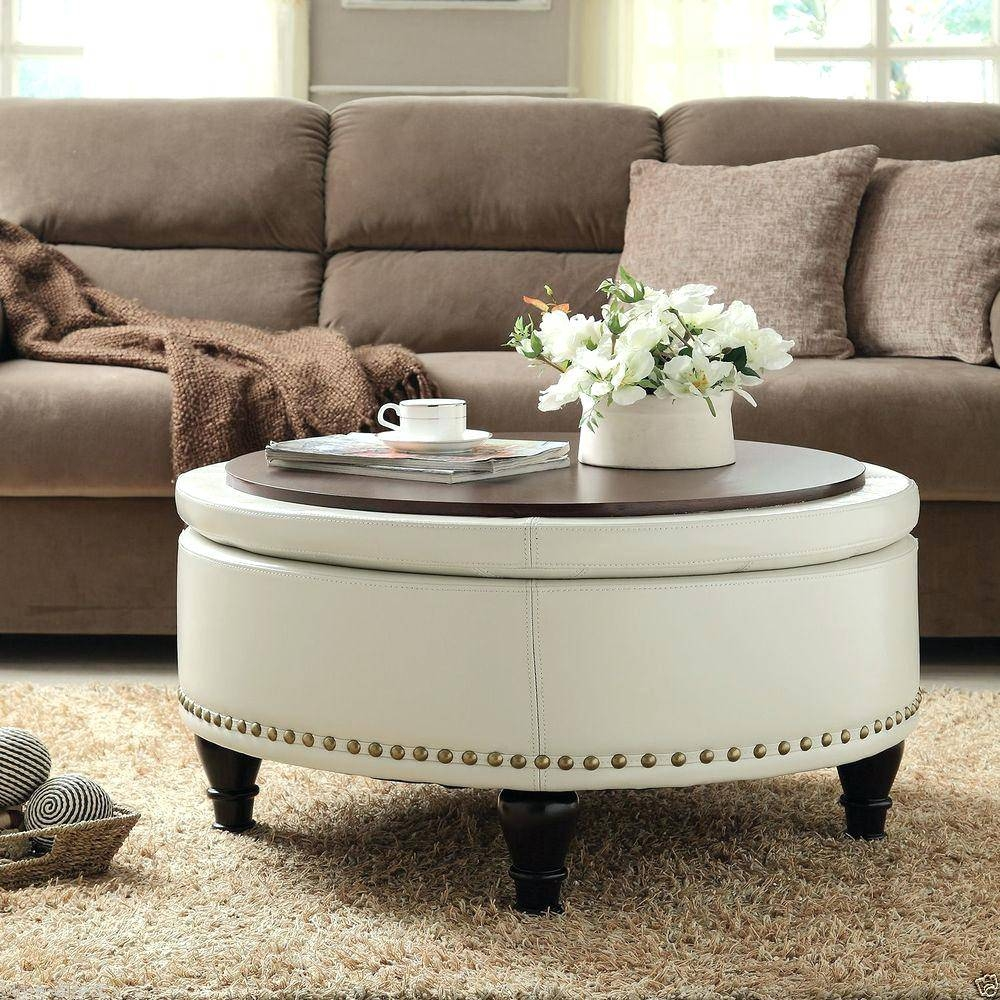 Capitol Coffee Table With Storage Ottoman | Coffee Tables Decoration for Round Coffee Tables With Storages (Image 4 of 30)