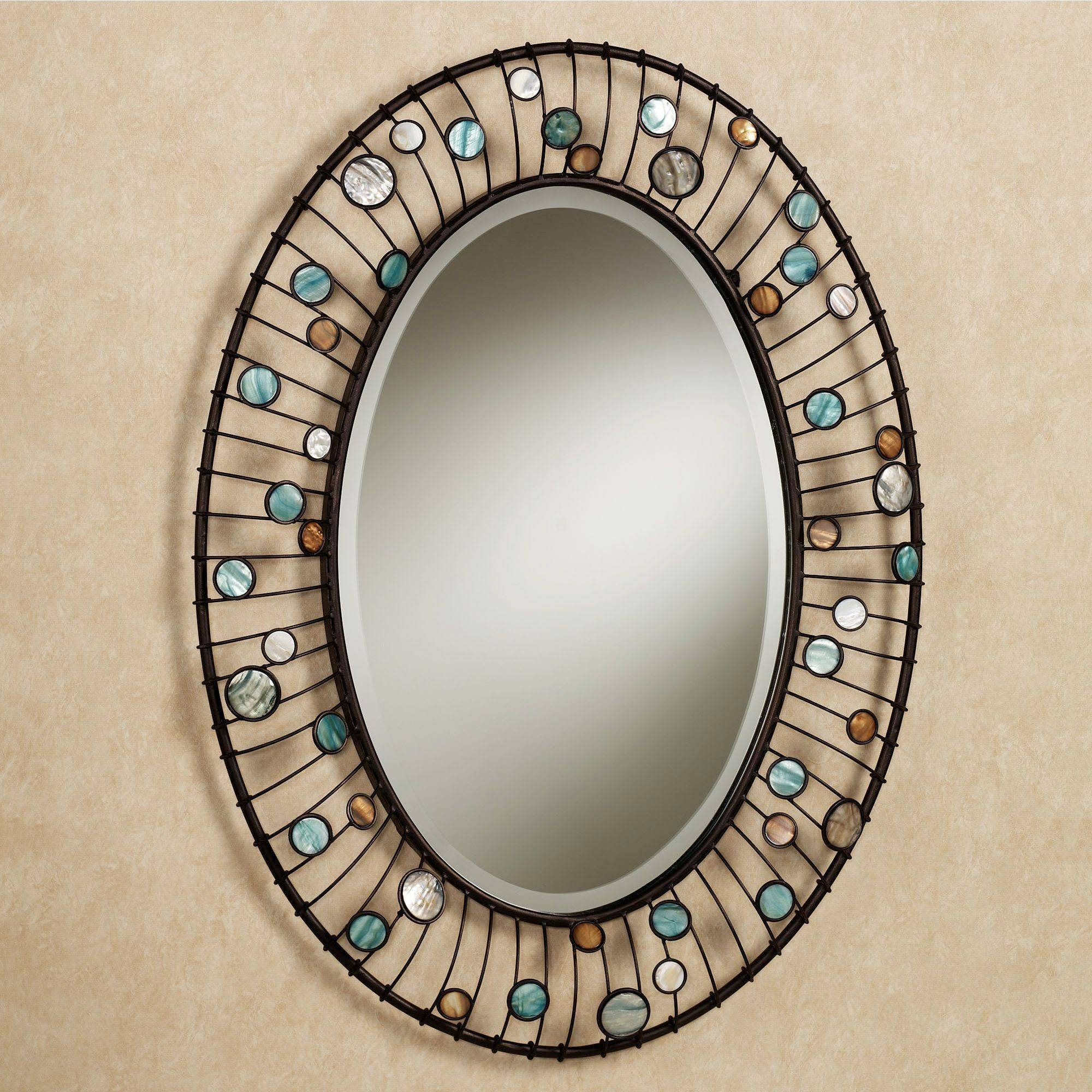 Capizia Oval Wall Mirror within Silver Oval Wall Mirrors (Image 7 of 25)