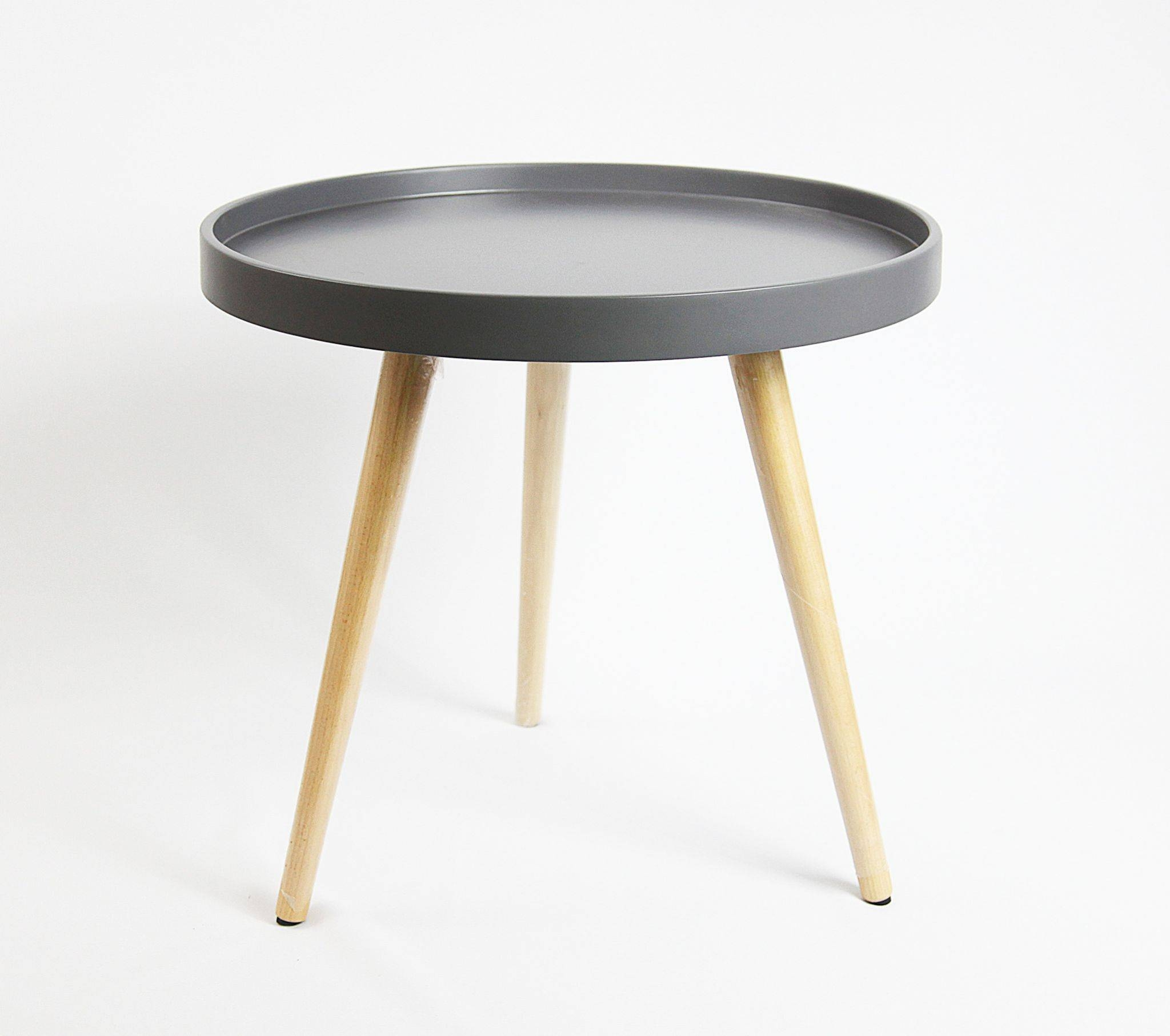 Capri Round Tray Table In 50Cm - Grey Matt with regard to Round Tray Coffee Tables (Image 6 of 30)