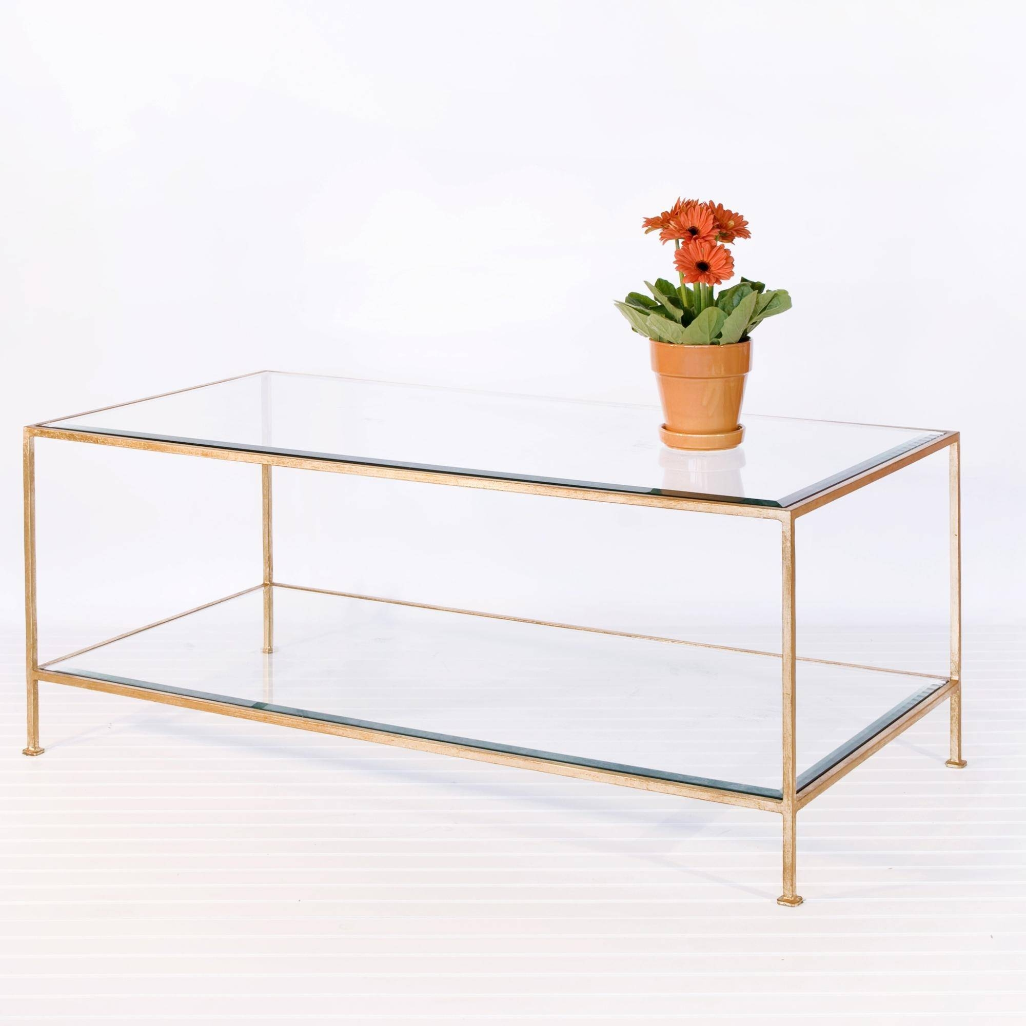 Captivating Glass Gold Coffee Table Coast – Antique Gold Glass inside Glass Gold Coffee Tables (Image 2 of 30)