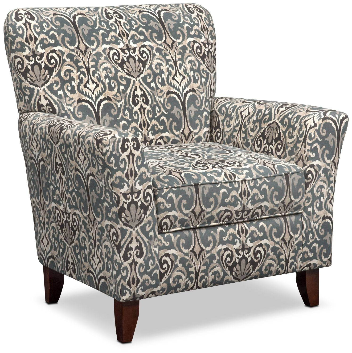 Carla Sofa And Accent Chair Set - Gray | Value City Furniture within Sofa And Accent Chair Set (Image 9 of 30)
