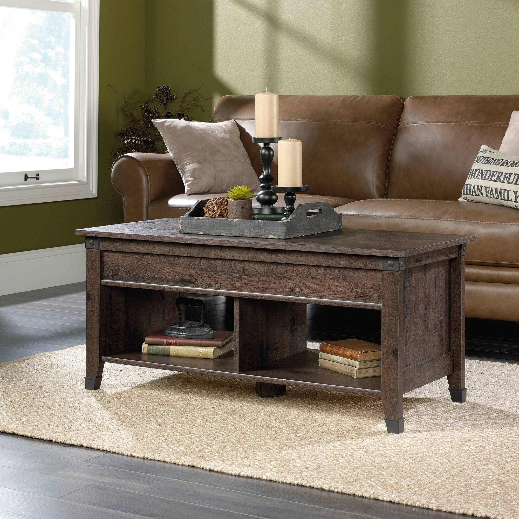 Carson Forge | Lift-Top Coffee Table | 420421 | Sauder within Coffee Tables Extendable Top (Image 2 of 30)