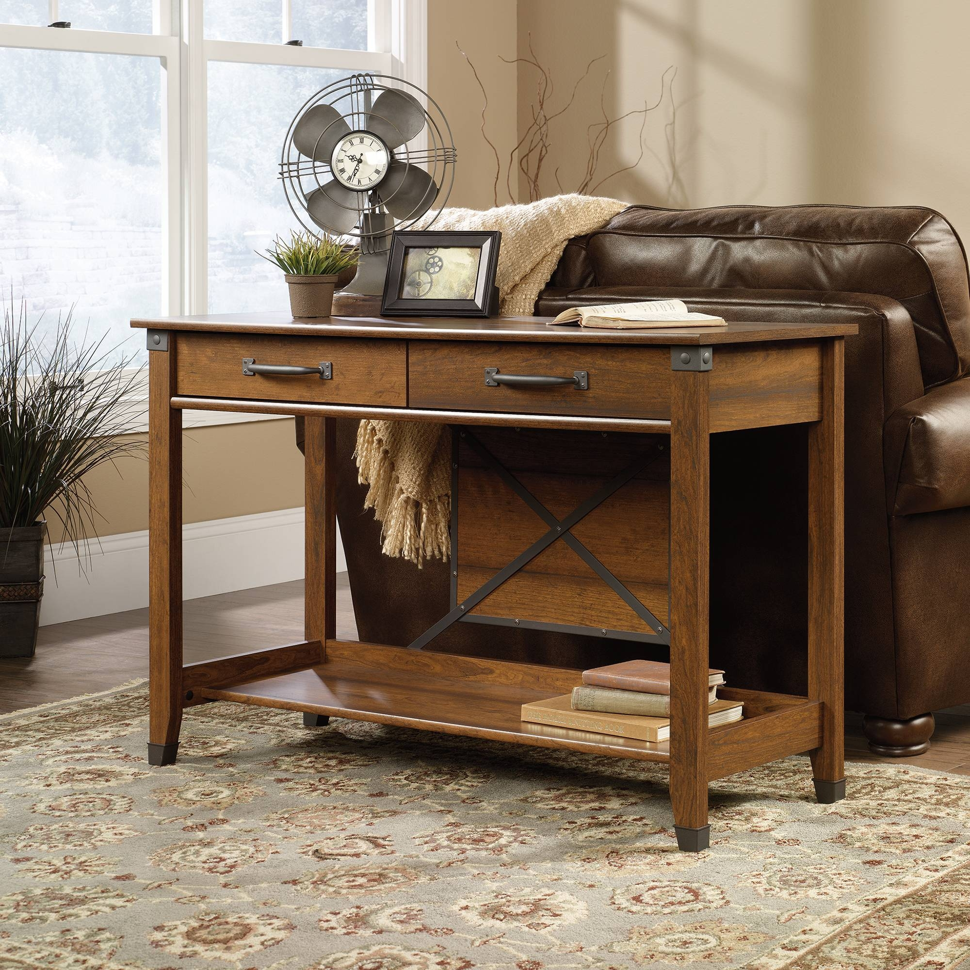Carson Forge | Sofa Table | 414443 | Sauder with Sofa Table Drawers (Image 5 of 30)