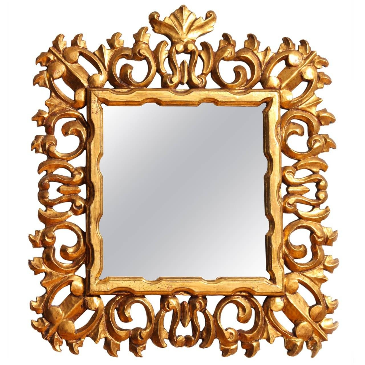 Carved And Gilded Italian Baroque Style Mirror Frame For Sale At intended for Baroque Style Mirrors (Image 10 of 25)