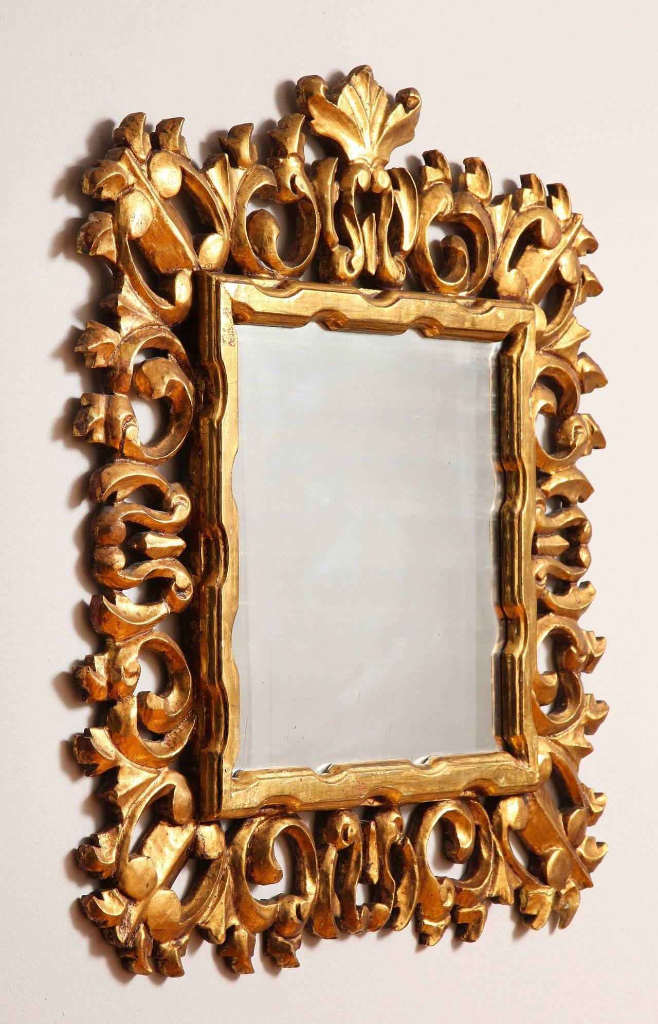 Carved And Gilded Italian Baroque Style Mirror Frame For Sale At With Regard To Baroque Style Mirrors (View 11 of 25)