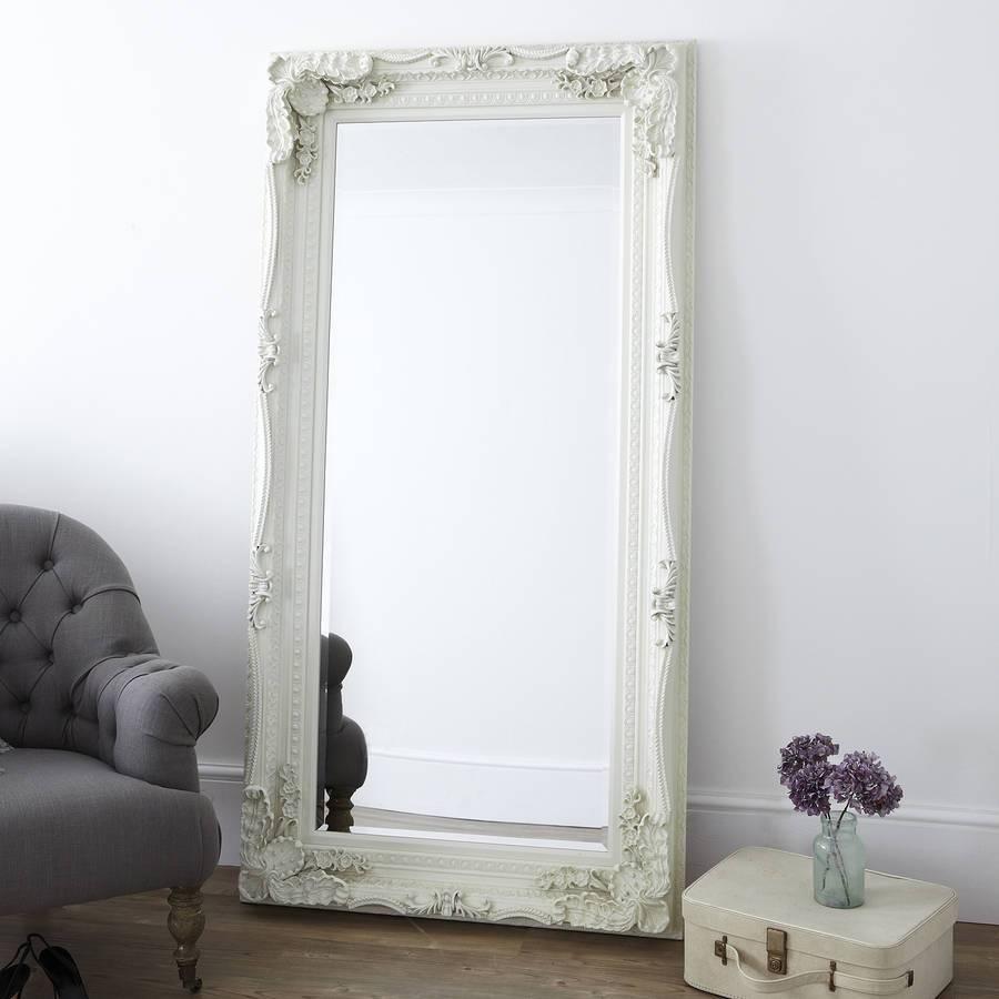 Carved Floor Standing Mirrorprimrose & Plum inside Cream Standing Mirrors (Image 5 of 25)