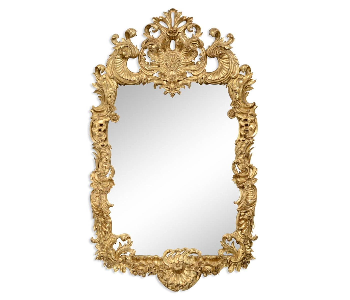 Carved & Gilded Rococo Style Mirror in Gold Rococo Mirrors (Image 14 of 25)