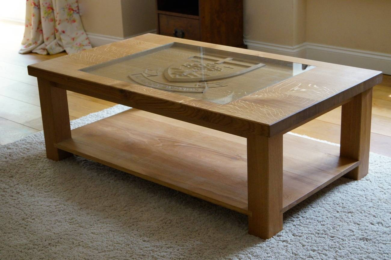 Carved Oak Coffee Table | Makemesomethingspecial for Bespoke Coffee Tables (Image 12 of 30)