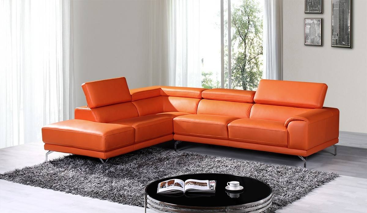 Popular Photo of Orange Sectional Sofa