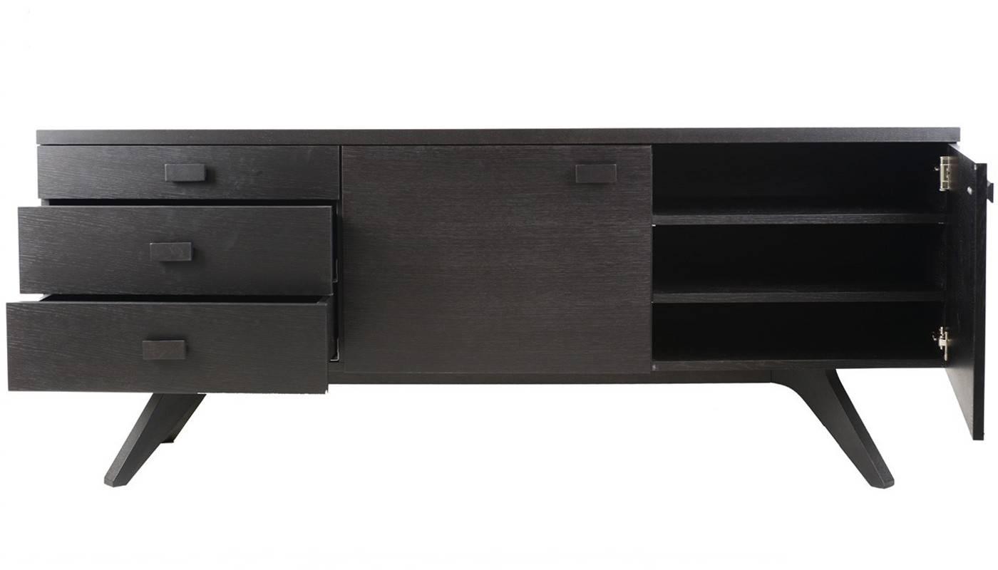 Case Matthew Hilton Cross Sideboard in Black and Walnut Sideboards (Image 7 of 30)