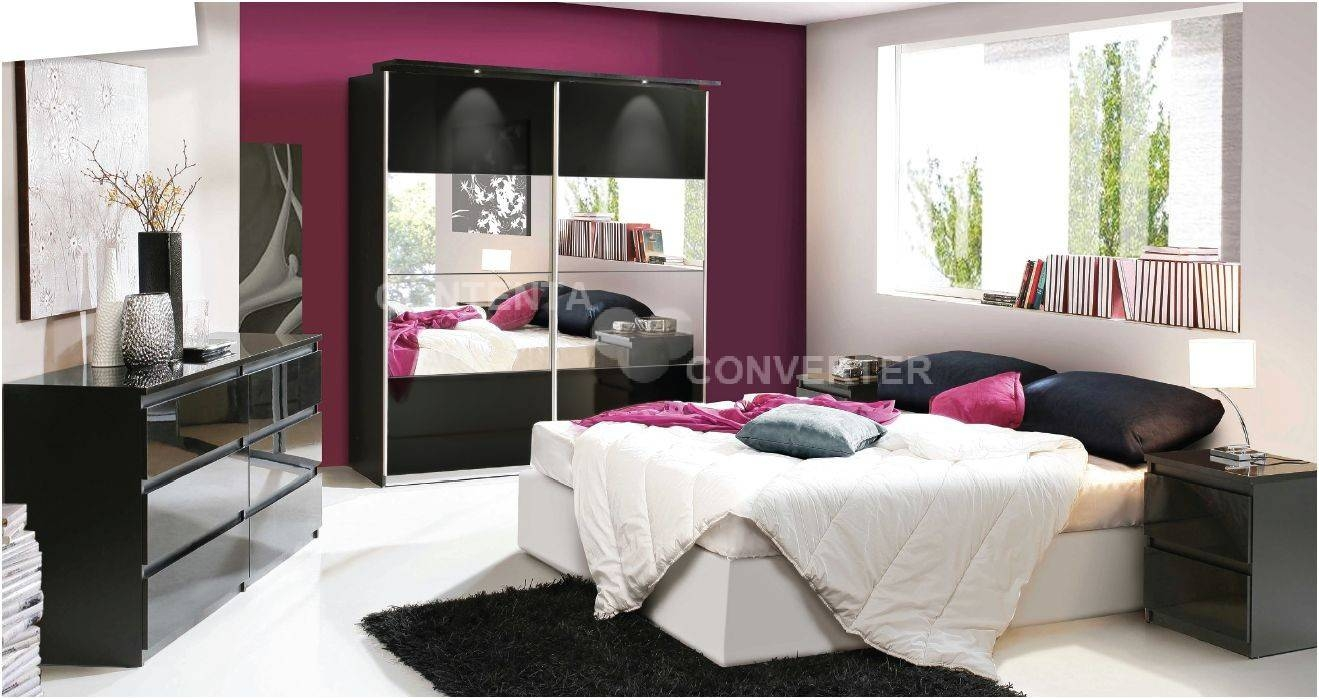 Cash And Carry Beds - Louise Black Gloss Mirrored Sliding Wardrobe with regard to Black Gloss Mirror Wardrobes (Image 7 of 15)