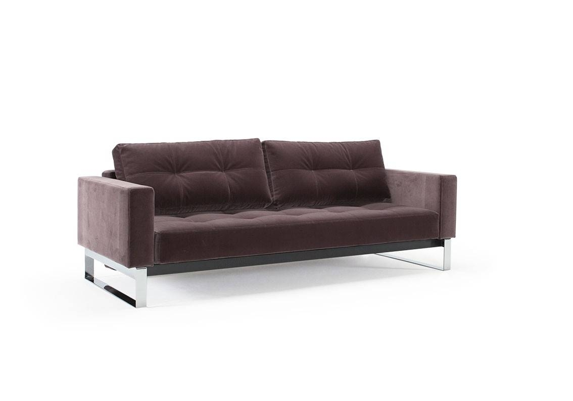 Cassius Vintage Velvet Sofa Bedinnovation Living with regard to Sofa Beds Queen (Image 4 of 30)