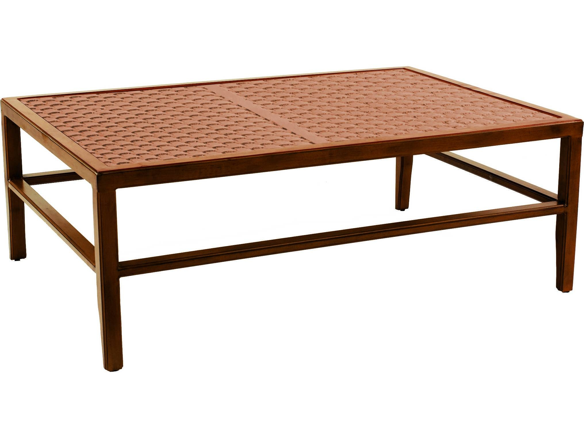 Castelle Transitional Cast Aluminum 51.5 X 35.5 Large Rectangular inside Large Rectangular Coffee Tables (Image 5 of 30)