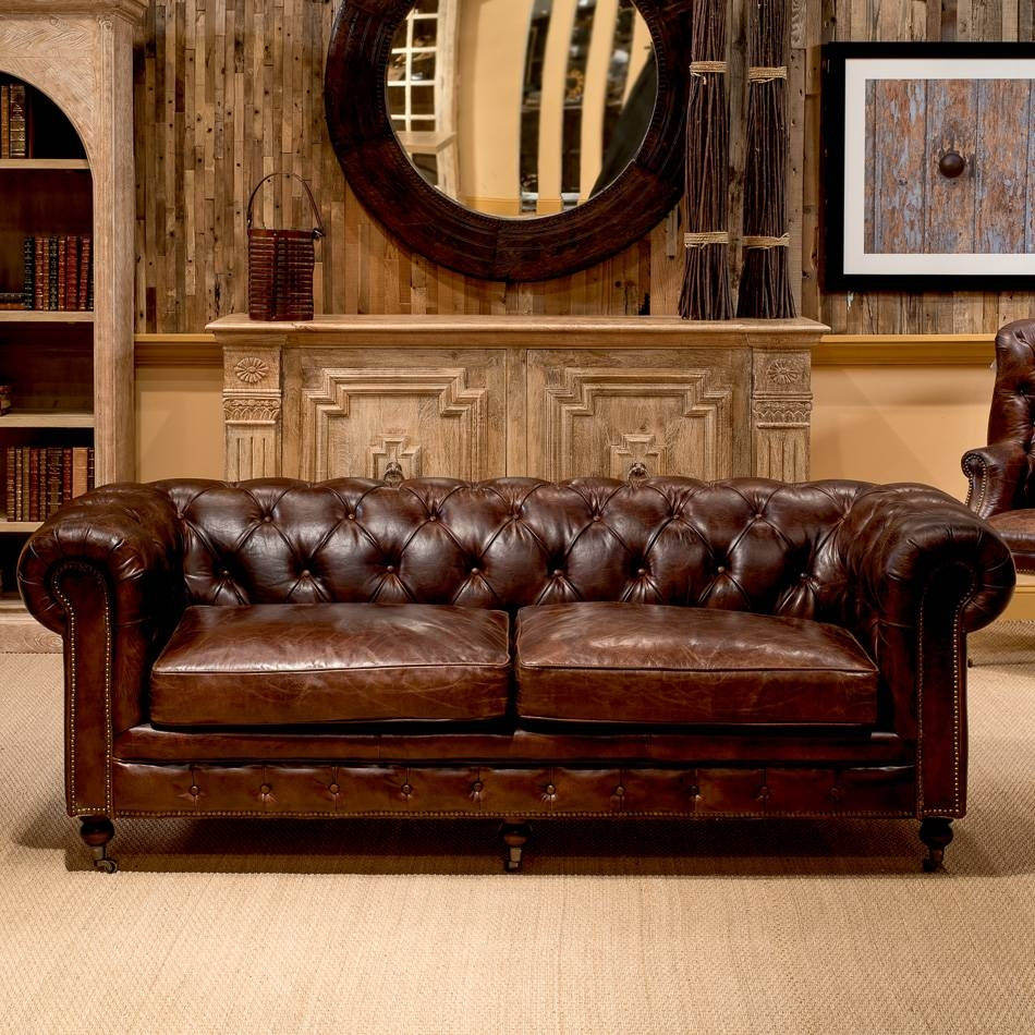 Castered Chesterfield Sofa , Sarreid Ltd Portal ! | Your Source within Vintage Chesterfield Sofas (Image 2 of 30)