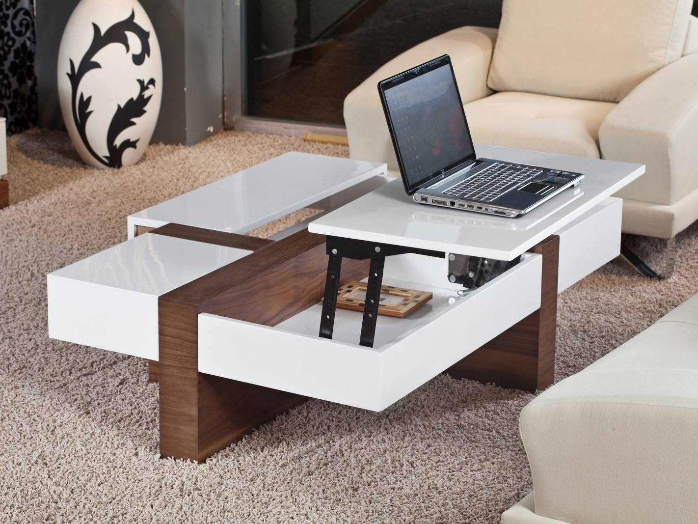 Castro Convertible Coffee Table. Mid Century Modern Castro with regard to Coffee Tables Extendable Top (Image 3 of 30)