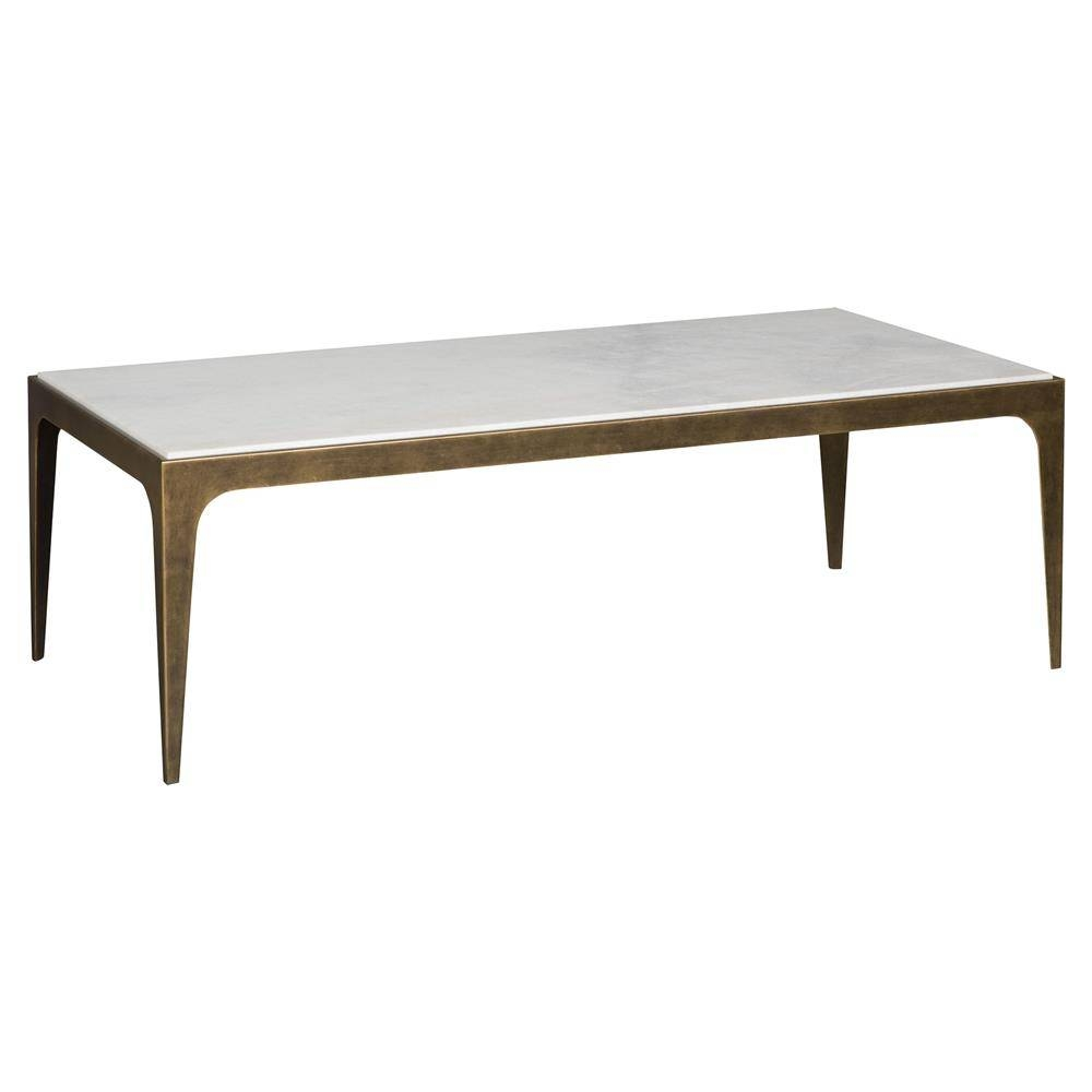 Cather Regency Loft French Brass White Marble Coffee Table | Kathy for French White Coffee Tables (Image 9 of 30)
