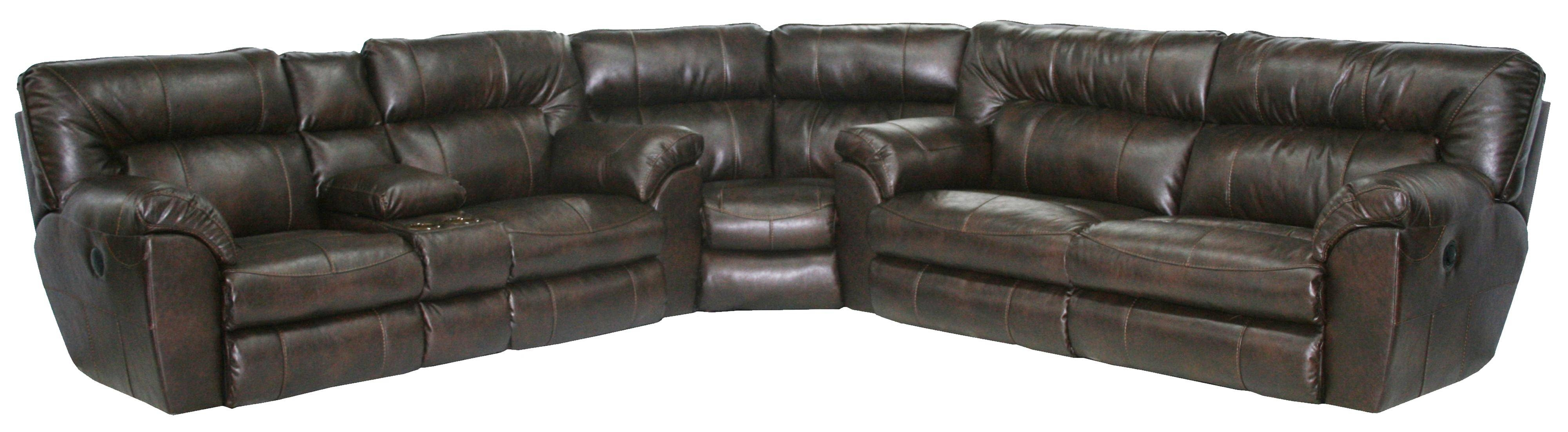 Catnapper Maverick Power Reclining Sectional Sofa With Left throughout Jedd Fabric Reclining Sectional Sofa (Image 3 of 30)