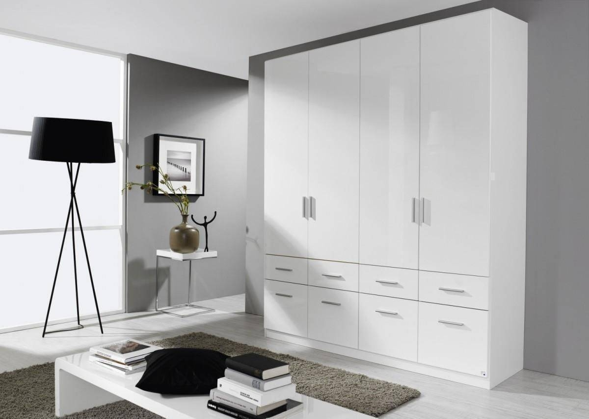 Celle 3 Doors 1 Mirror And 6 Drawers High Gloss Wardrobe - 2128 regarding White Gloss Mirrored Wardrobes (Image 2 of 15)