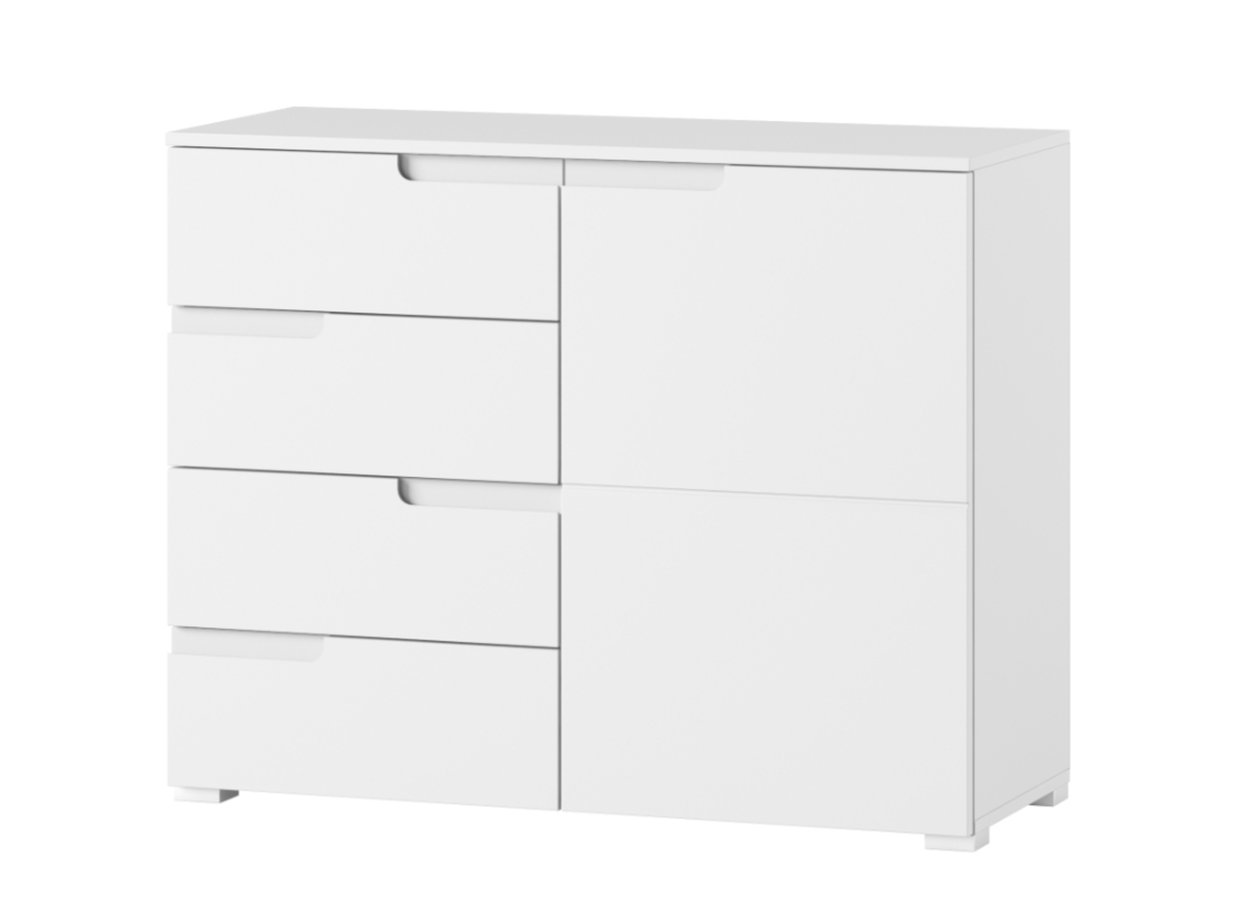 Cellini High Gloss White Narrow Sideboard Storage Chest Dresser 1 regarding Narrow White Sideboards (Image 6 of 30)