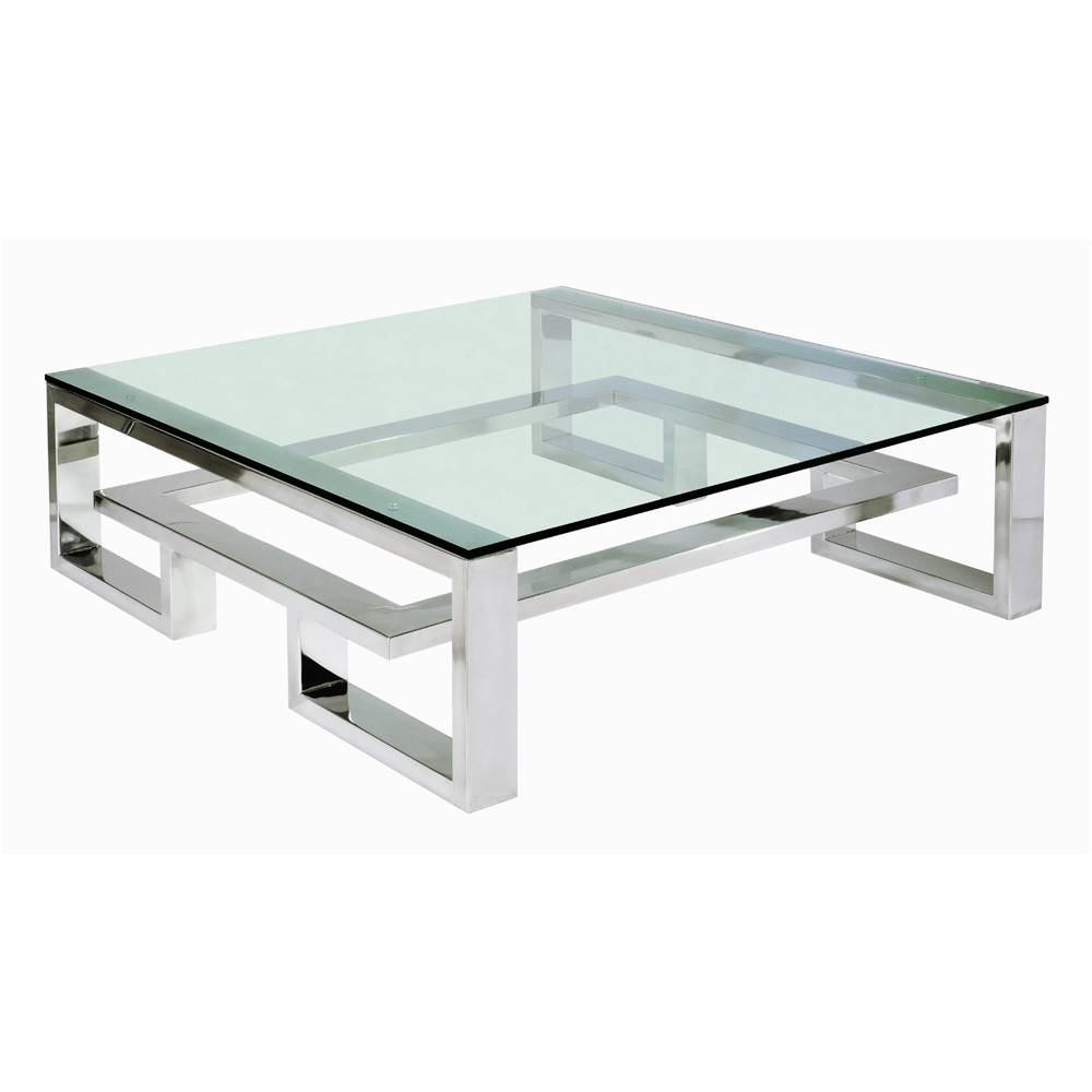 Centre Table Designs With Glass Top, Coffee Tables Stainless Steel Pertaining To Steel And Glass Coffee Tables (View 1 of 30)