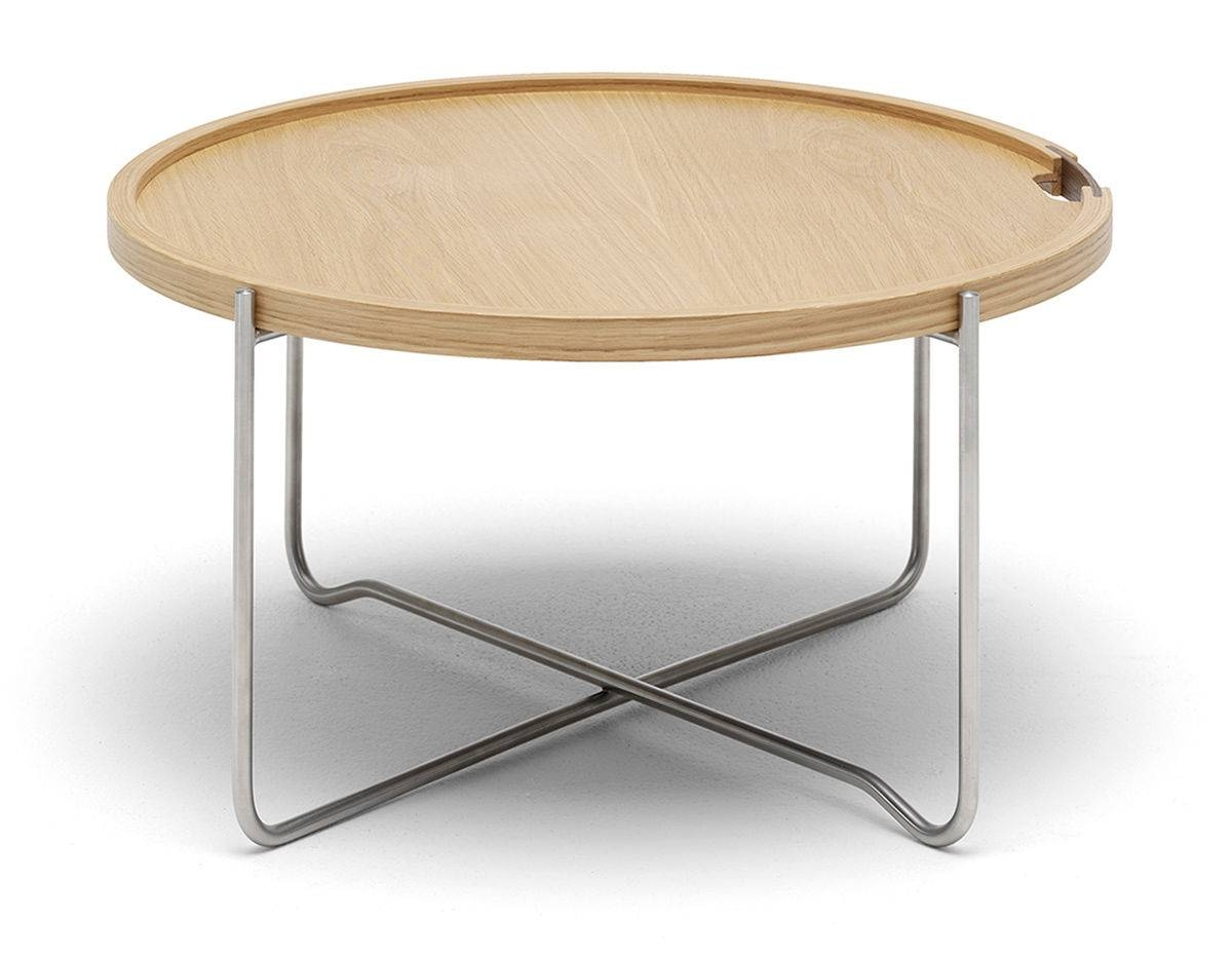 Ch417 Tray Table - Hivemodern with regard to Round Tray Coffee Tables (Image 8 of 30)