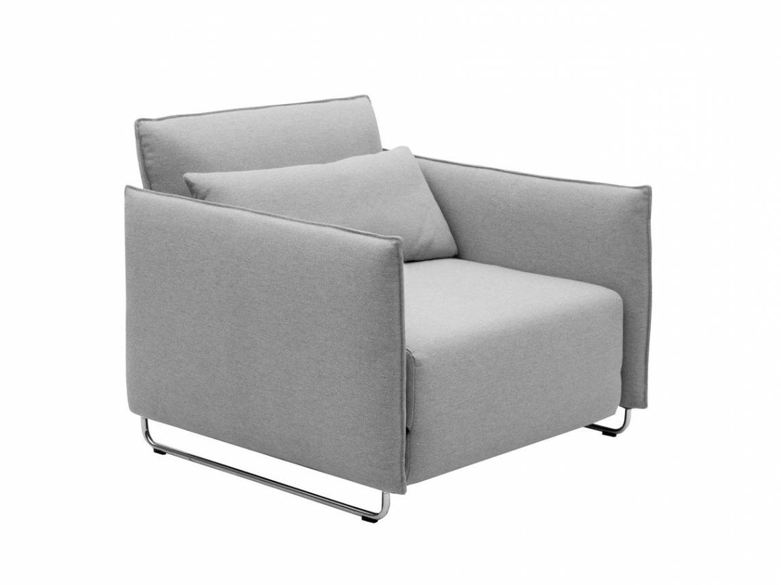 Chair Bed: Homcom Fold Out Futon Single Sofa Bed – Grey Mattress regarding Single Chair Sofa Bed (Image 2 of 30)