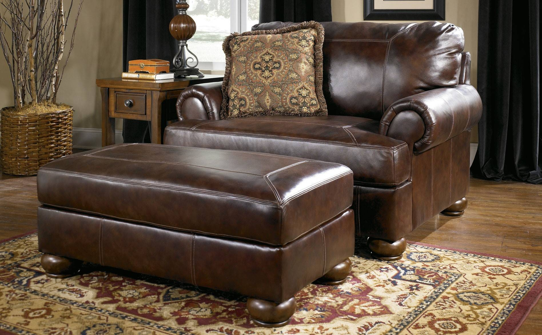 Chair Oversized Chair And Ottoman Designs Half With A Recliner intended for Sofa Chair With Ottoman (Image 9 of 30)