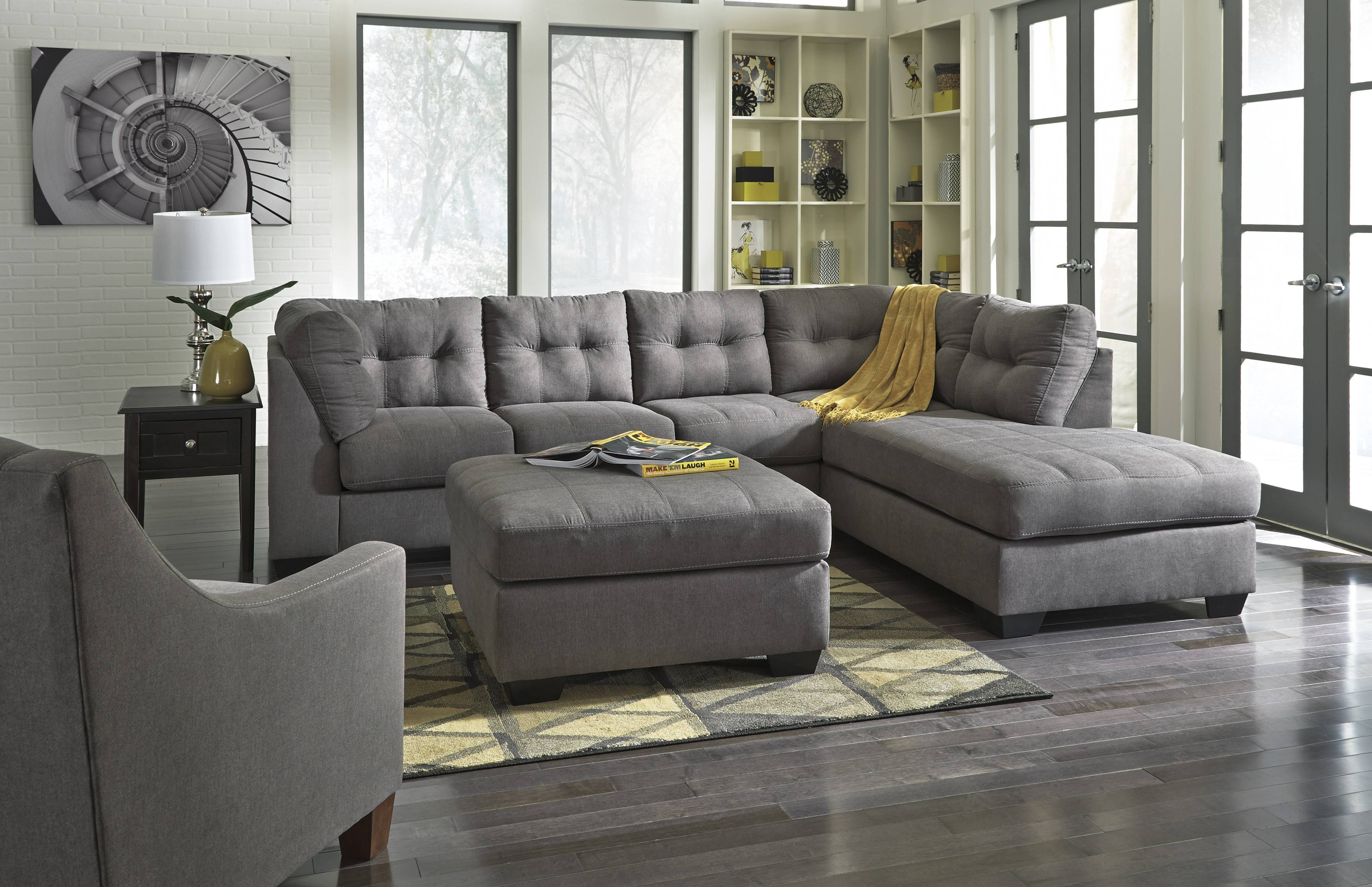 Chair & Sofa: Have An Interesting Living Room With Ashley Intended For Ashley Tufted Sofa (Image 15 of 30)