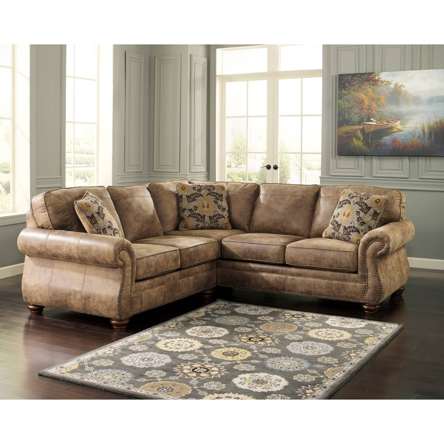 Chair & Sofa: Have An Interesting Living Room With Ashley regarding Small 2 Piece Sectional Sofas (Image 8 of 30)