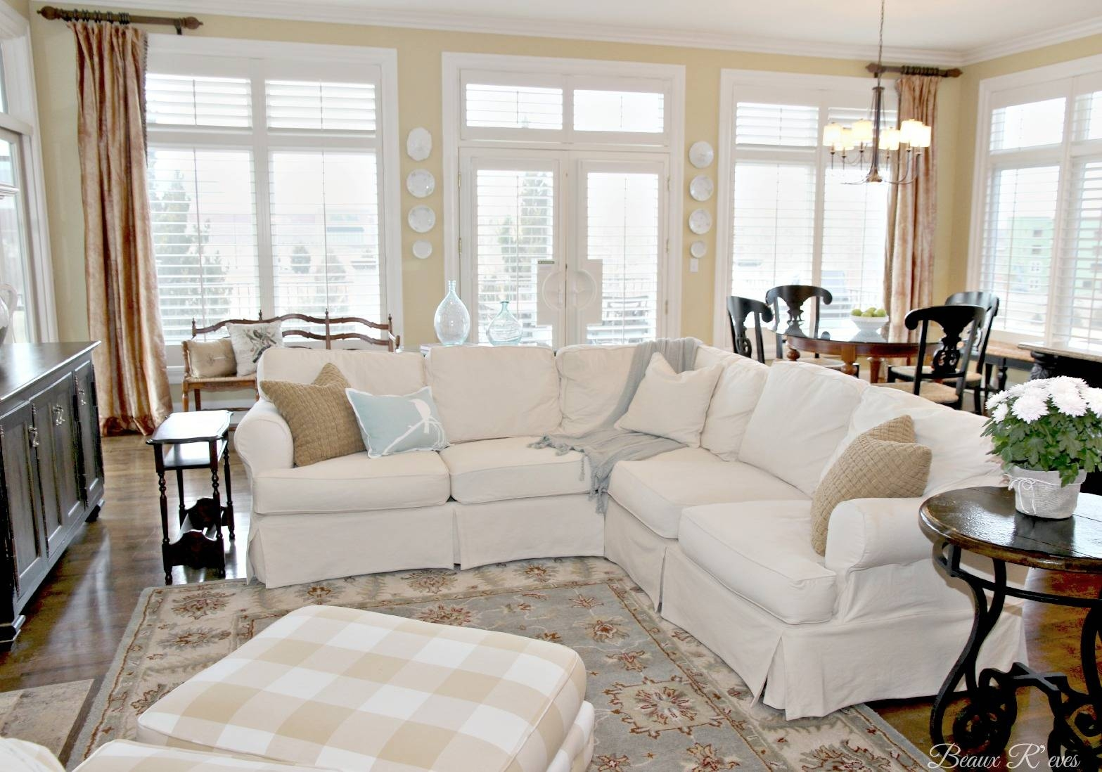 Chair & Sofa: Usual Slipcovered Sofas For Classic Sofa Idea in 3 Piece Sectional Sofa Slipcovers (Image 2 of 33)
