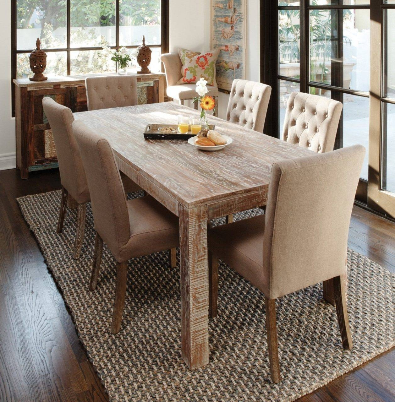 Chair Winsome Modern Rustic Kitchen Table Sofa With Set Gorgeous throughout Sofa Table With Chairs (Image 13 of 30)