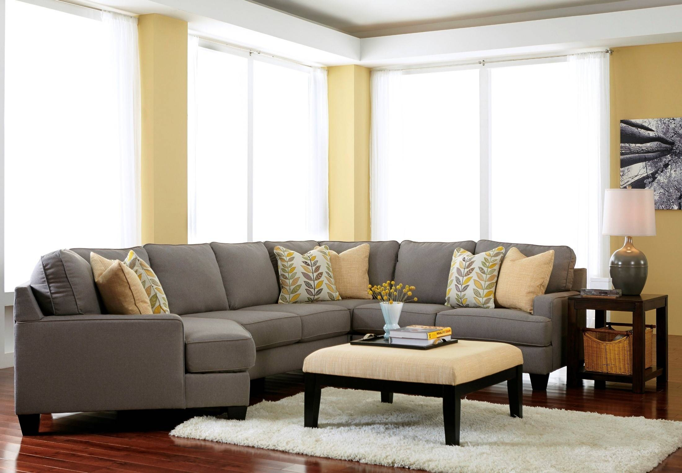 Chamberly Alloy Laf Cuddler Sectional From Ashley (2430216 with Cuddler Sectional Sofa (Image 6 of 30)