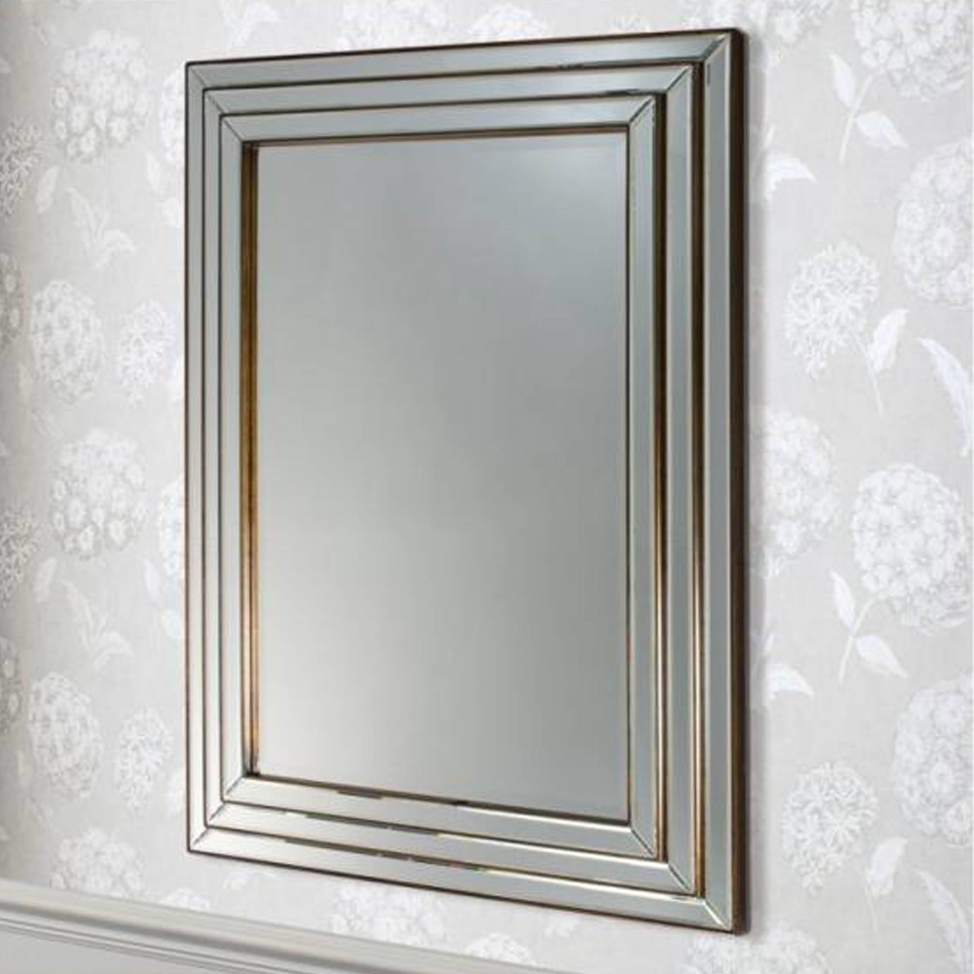 Chamberry Bronze Wall Mirror | Wall Mirror | Homesdirect365 pertaining to Bronze Wall Mirrors (Image 4 of 25)