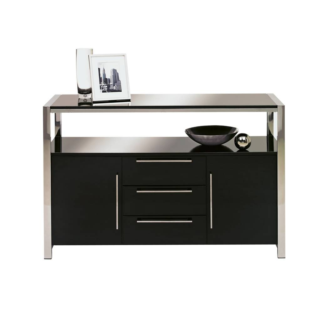 Charisma Sideboard Black Gloss At Wilko within Small Black Sideboards (Image 5 of 30)
